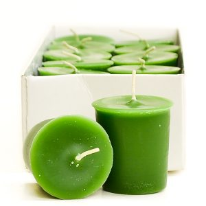 Crimson candles Votive candles